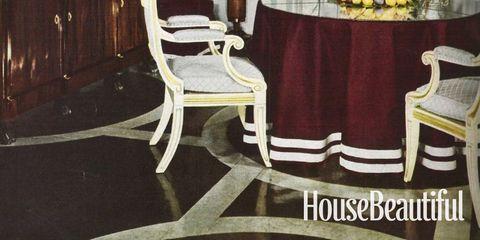 Room, Interior design, Furniture, Table, Chair, Interior design, Hardwood, Molding, Tablecloth, Classic,