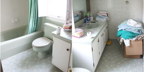 Before & After: A Moldy and Outdated Bathroom Gets an Elegant Update