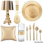 light gold accessories
