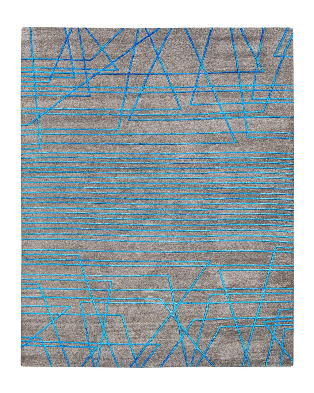 broken lines rug