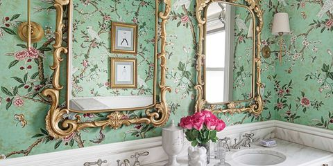 Inside a Bathroom With Grown-Up Glamour for Two Young Girls