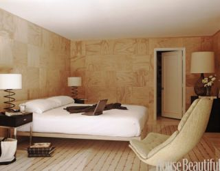 birch plywood room