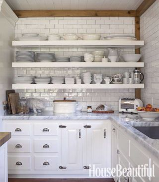 hate open shelving these 15 kitchens might convince you otherwise rh housebeautiful com open shelving in kitchen cabinets open shelving in kitchen cabinets