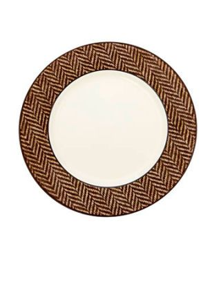 dish with herringbone pattern