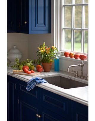 blue cabinets in kitchen kitchen decor blue and white kitchen 12474