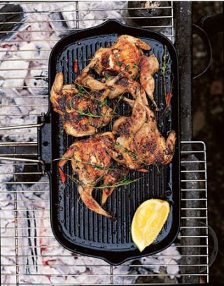 flattened quail with chile and salt from italian two easy