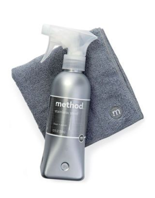 Stainless Steel Cleaner + Polish + Microgiber Cloth