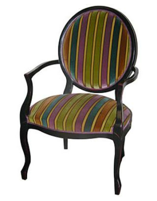 striped chair