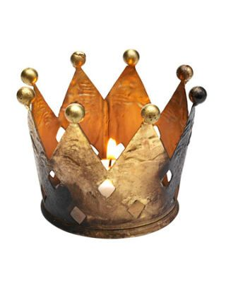 gold crown votive