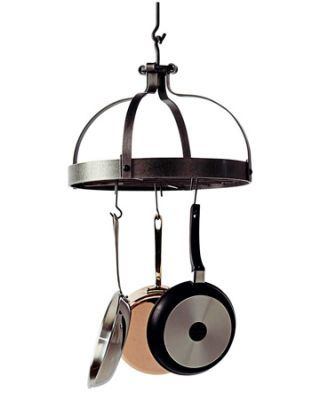 iron hanging crown inspired pot rack
