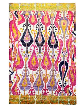 colorful ikat rug