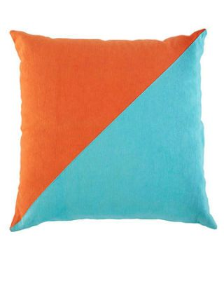 blue and orange pillow