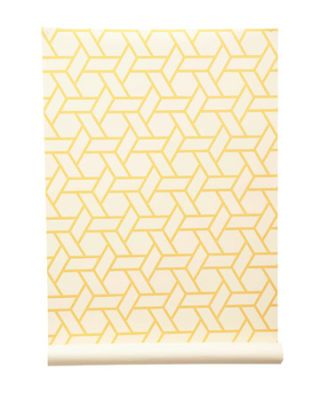 geometric yellow pattern on white