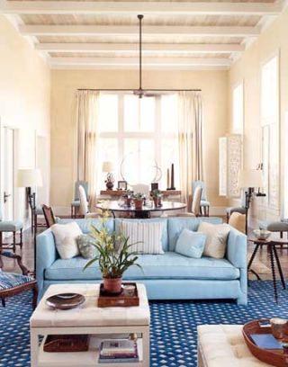 Caribbean Style Light Blue Home Designed By Tom Scheerer