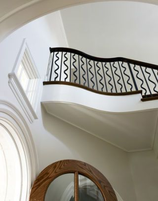architectural detailing of a staircase