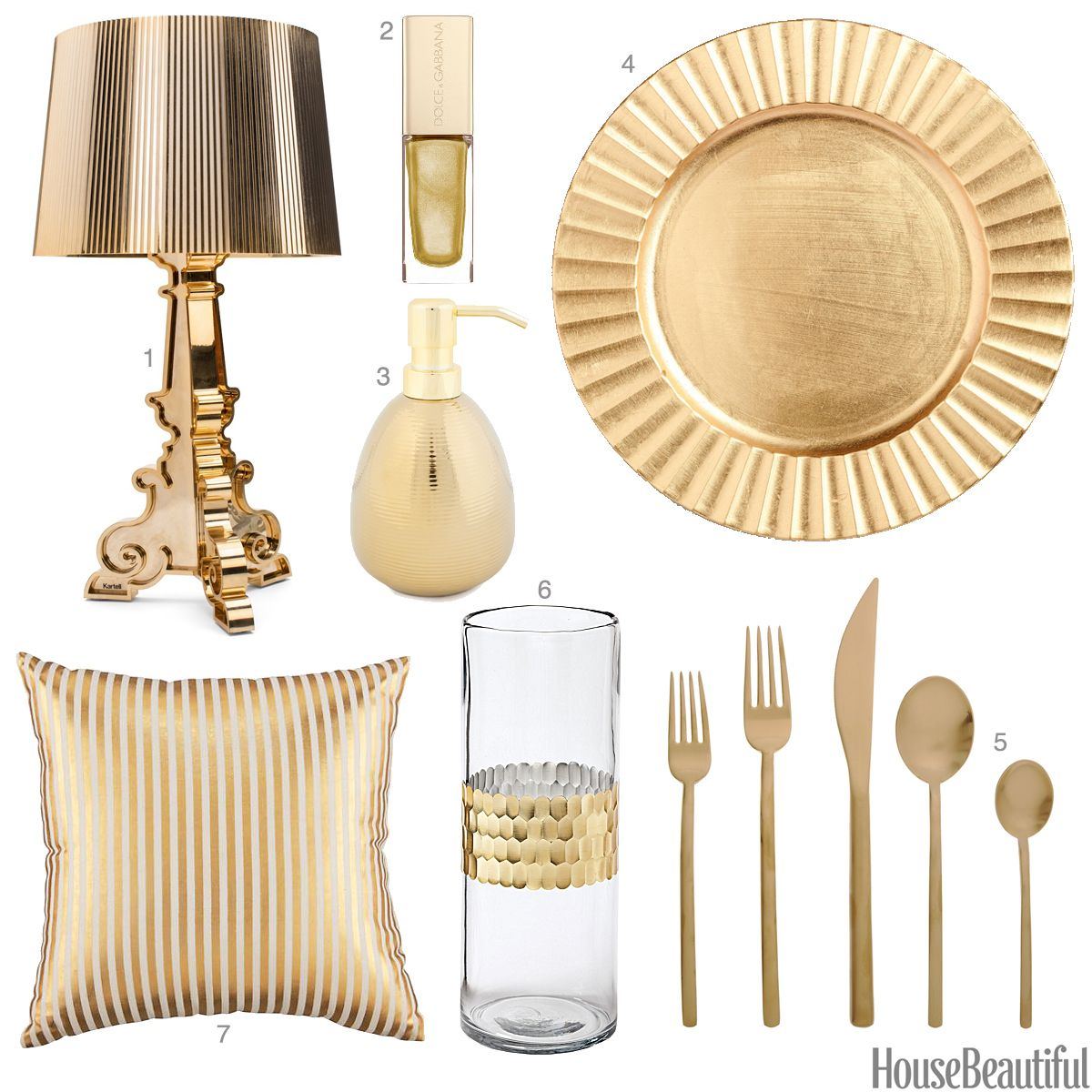 Light Gold Accessories - Light Gold Home Decor
