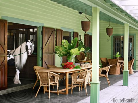 stable porch