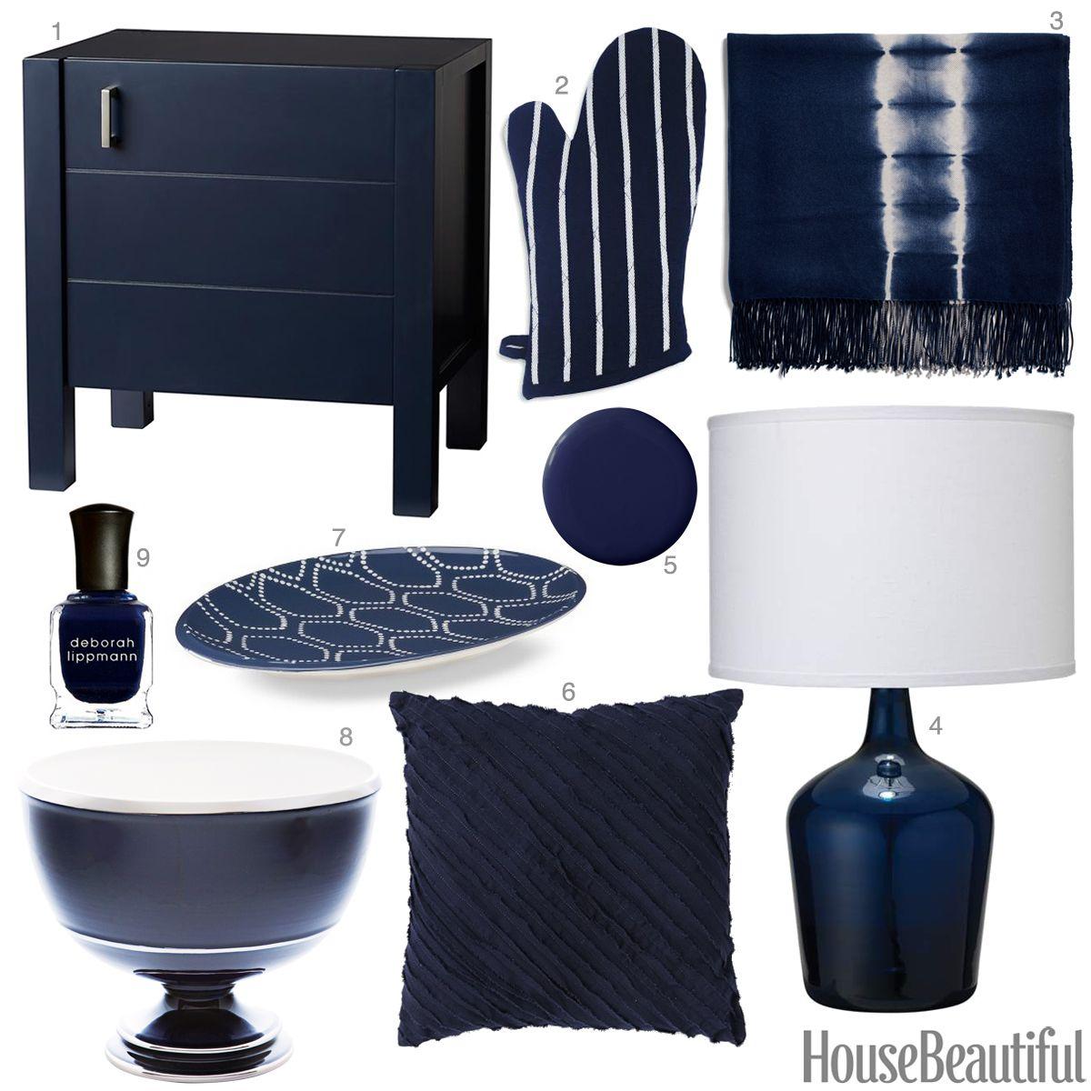 Inky Blue Accessories - Dark Blue Home Decor