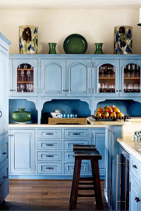 awesome turquoise kitchen cabinets dining | 50 Kitchen Cabinet Design Ideas 2019 - Unique Kitchen ...