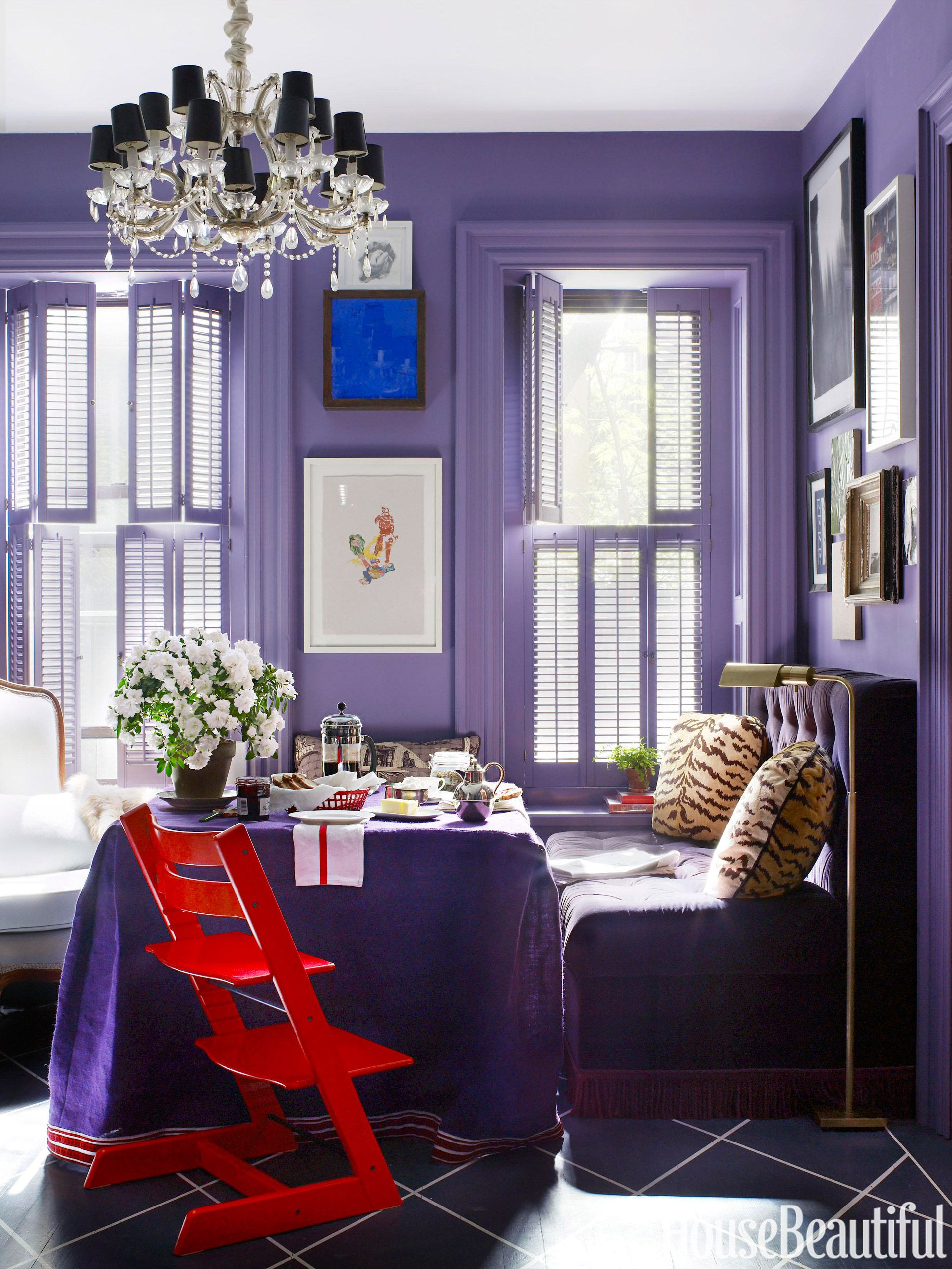 purple kitchen & 18 Best Purple Rooms - Lavender Lilac and Violet Decorating Ideas