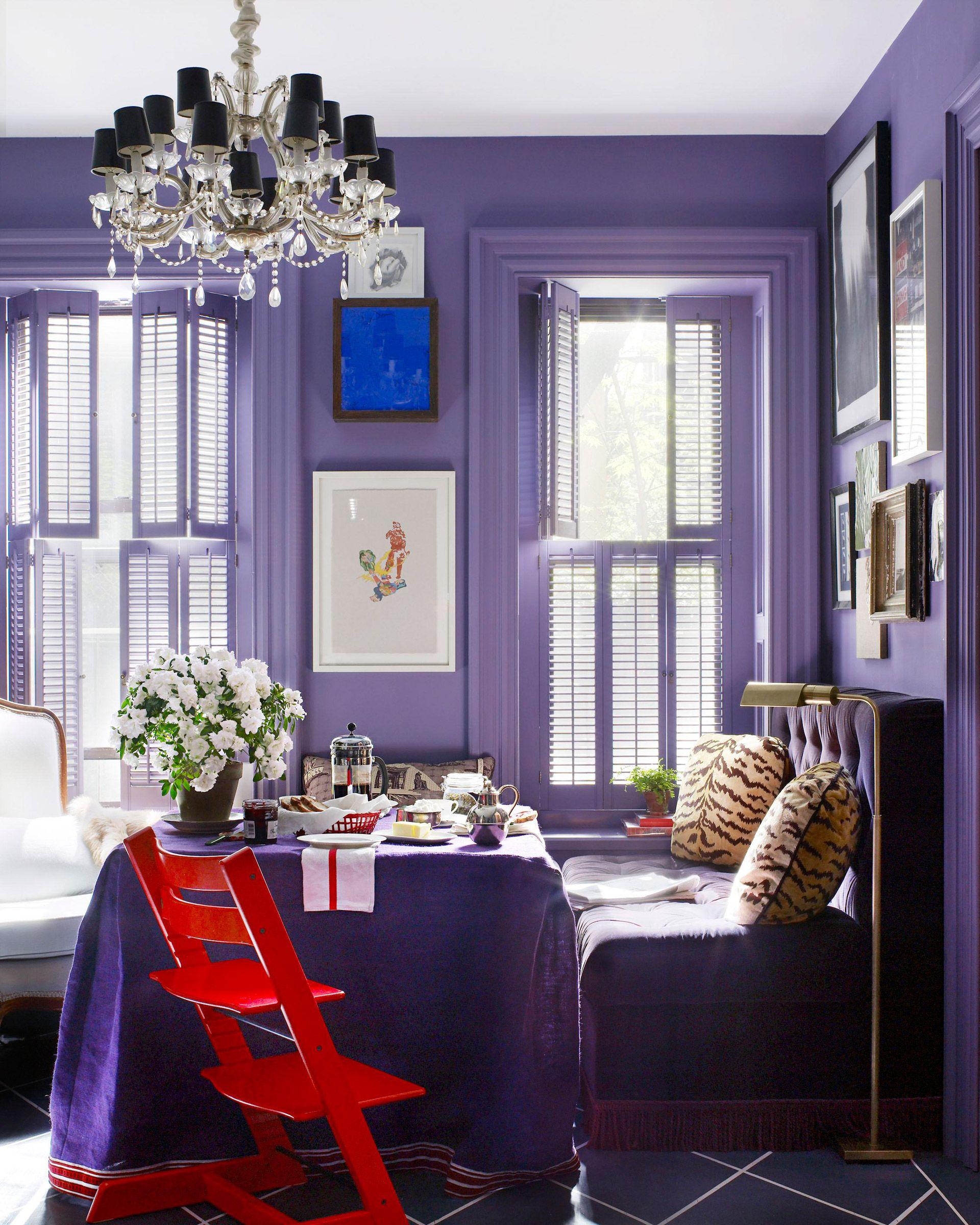 Living Room Violet Color 18 best purple rooms - lavender, lilac and violet decorating ideas