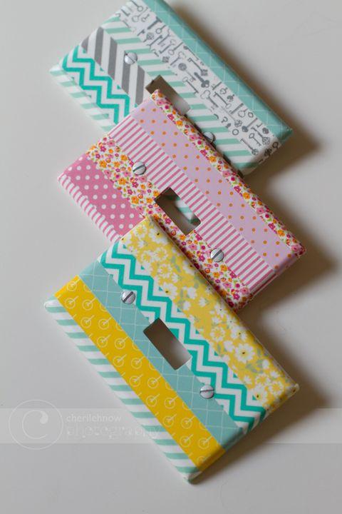 washi tape switch plates
