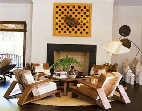 living room designed by waldo fernandez in his long island summer home