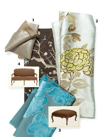 Fabrics From Designers Guildu0027s New Oriental Gardens Collection.