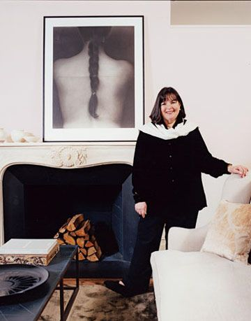 Ina Garten in her city living room.