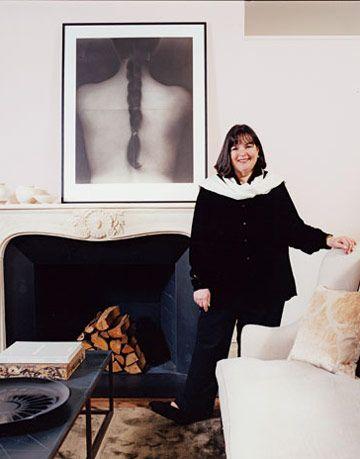 Ina Garten in her city living room.