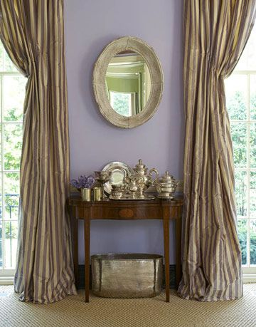 lavender painted wall