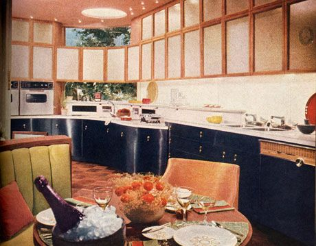 1960s Kitchens Kitchen Design Ideas Blue Open Built Entertaining