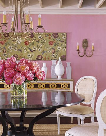 The color Checkberry shown in the dining room.