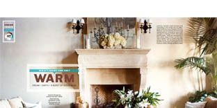 living room layout in magazine