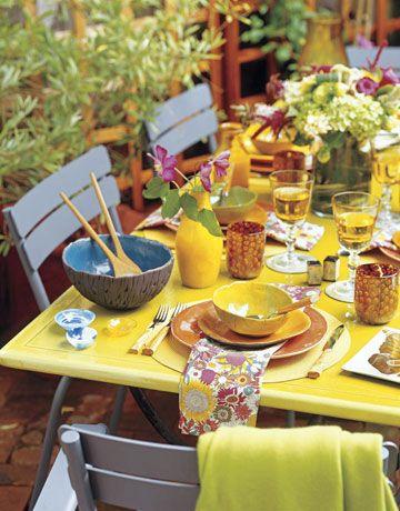 & Spring Table Settings - Beautiful Table Setting Ideas