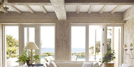 ocean front living room in neutrals