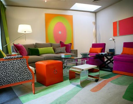colorful living room design by eileen kathryn boyd