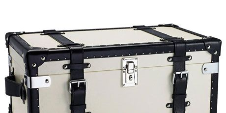 black and white table trunk