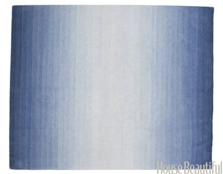 blue ombre rug