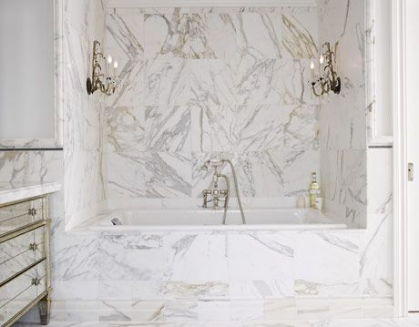 a marble bathroom tub
