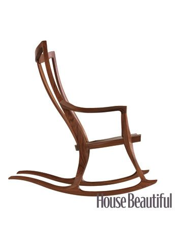 wood rocking chair. Pasadena  sc 1 st  House Beautiful & Best Rocking Chairs - Pictures of Best Rocking Chairs to Buy