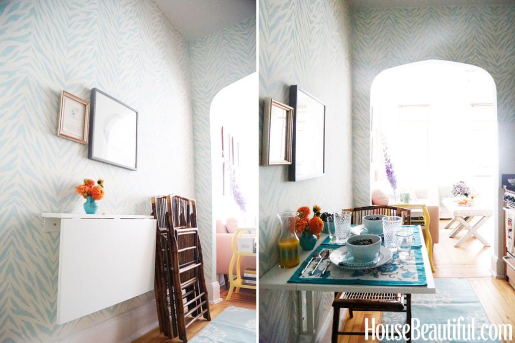 Blue Patterned Walls