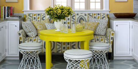 how to repurpose old furniture. Dining Area With Yellow Walls And Table How To Repurpose Old Furniture