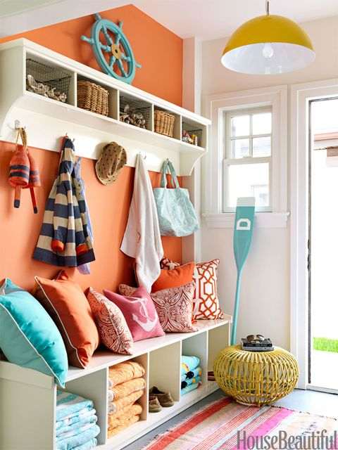 orange mudroom
