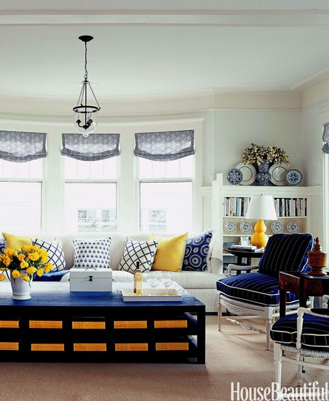 20 Charming Blue And Yellow Living Room Design Ideas: What To Know Before You Buy A Sofa