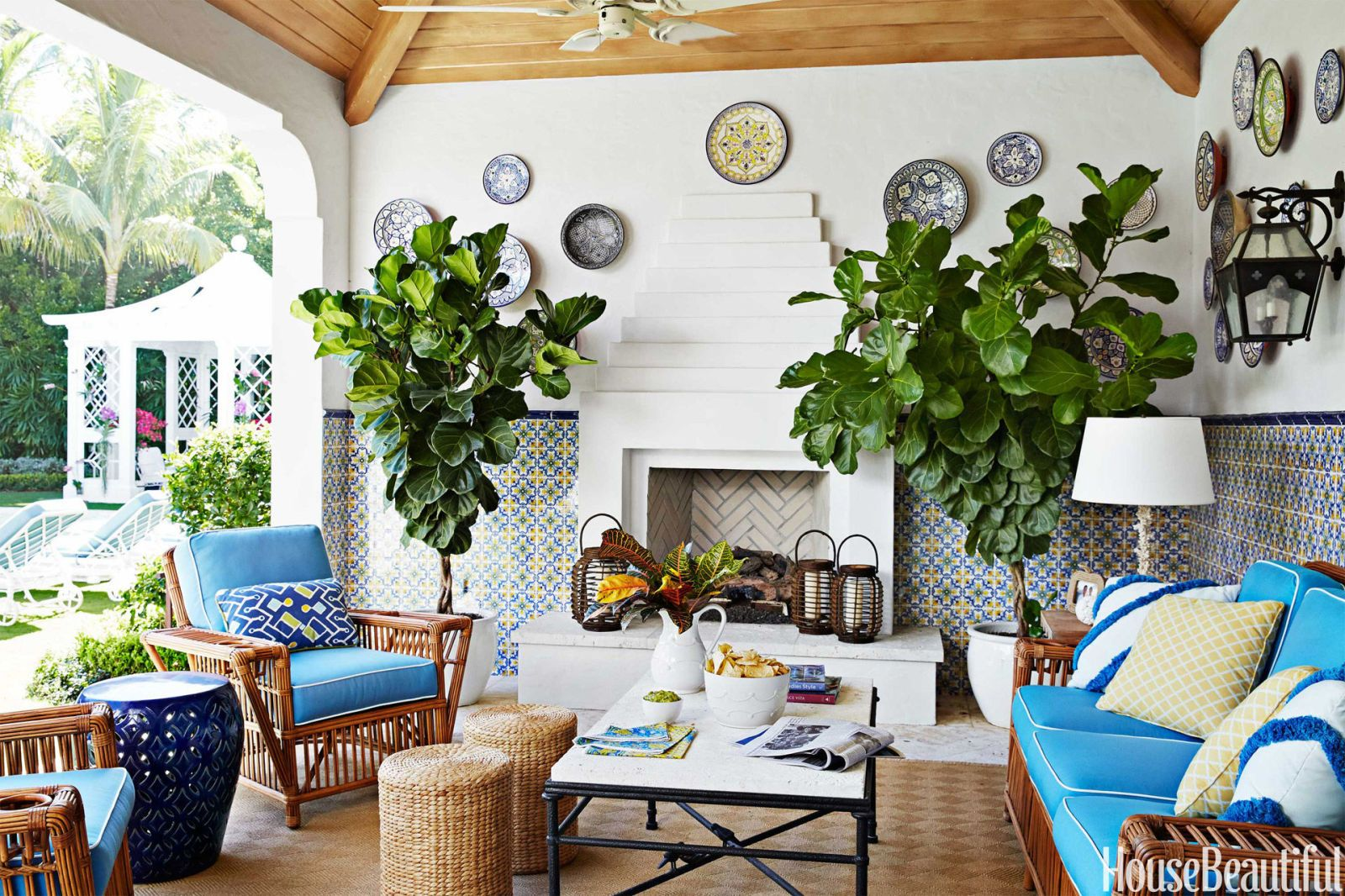 Colorful Palm Beach House   Mimi McMakin Ashley Sharpe Palm Beach House