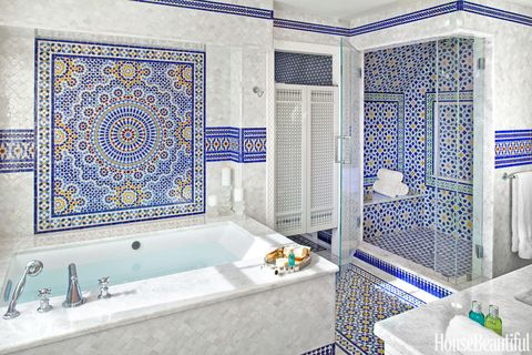 tile covered bathroom