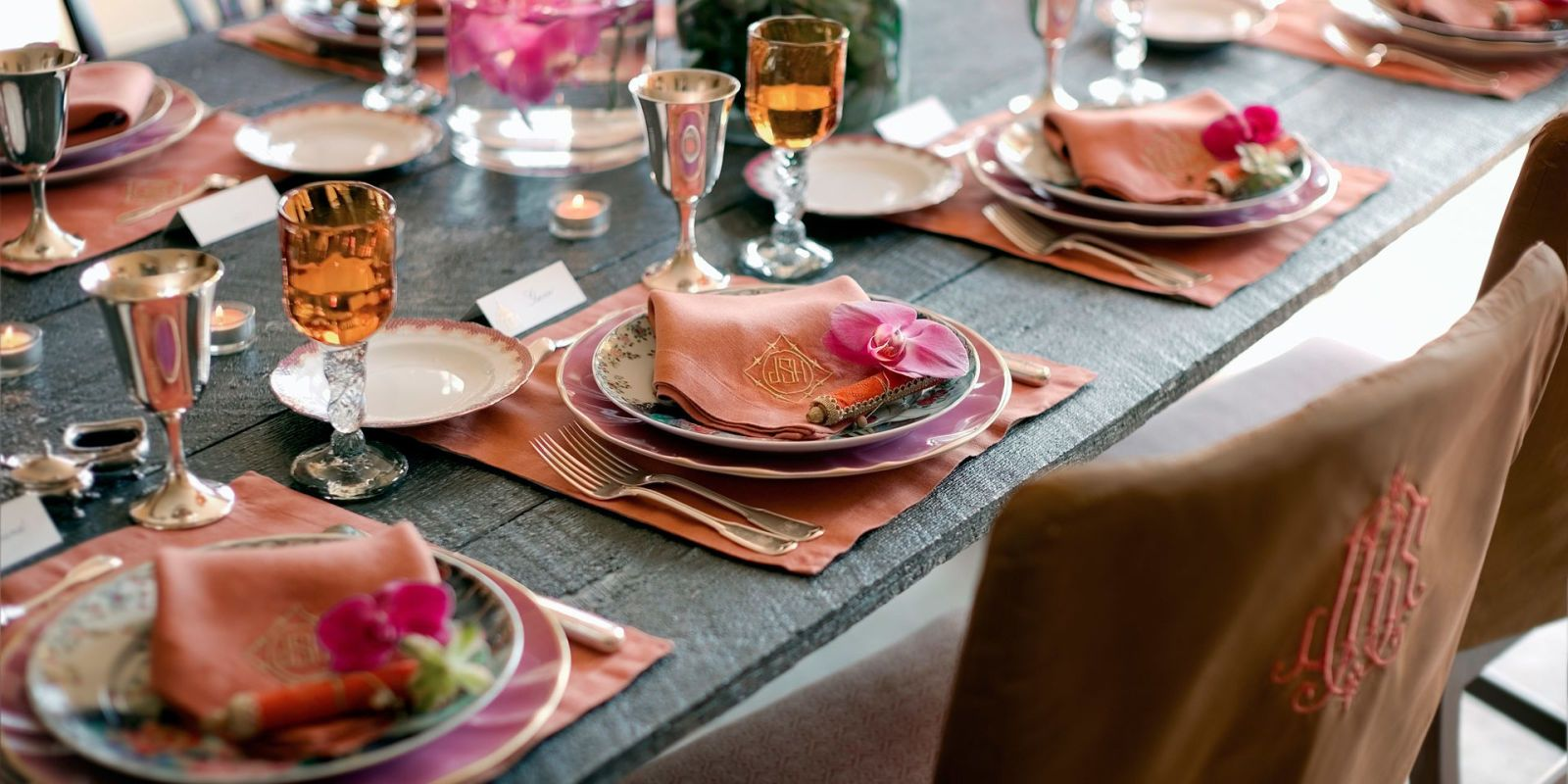 colorful tablescape & 14 Thanksgiving Table Decorations - Table Setting Ideas for ...