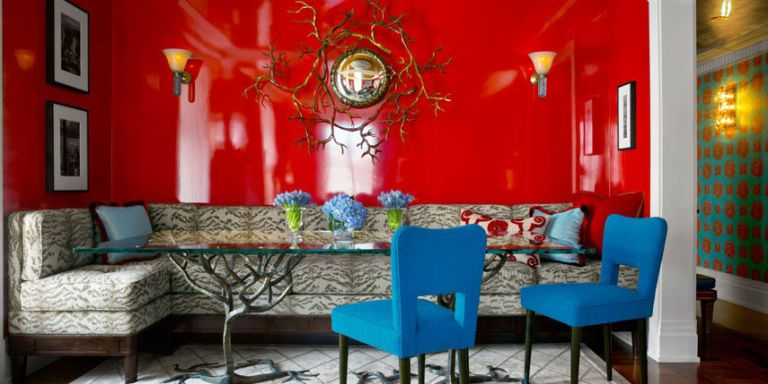 Superieur Red Lacquered Walls