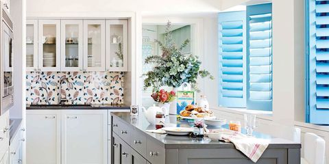 blue shutters - Country Style Kitchen
